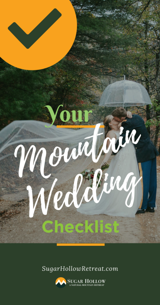 Your Mountain Wedding Checklist