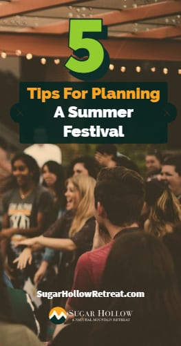 5 Tips for Planning A Summer Festival
